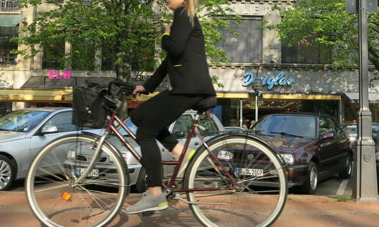 Citybike in der Stadt