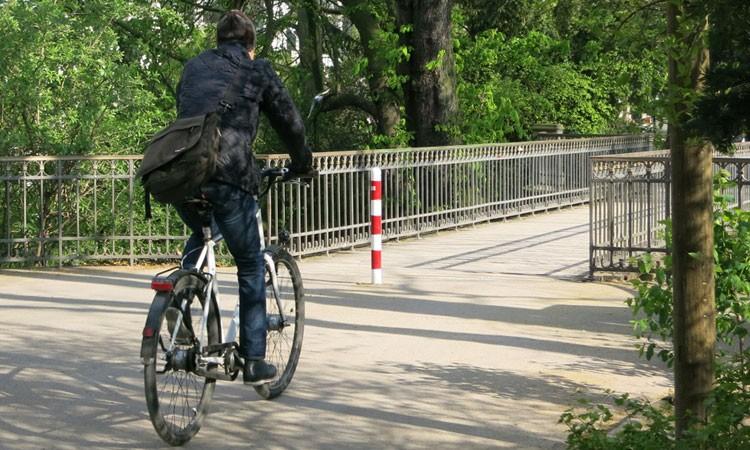 Fitnessbike in der Stadt